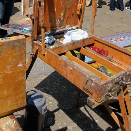 Lambermontmartre schildersmarkt te Antwerpen